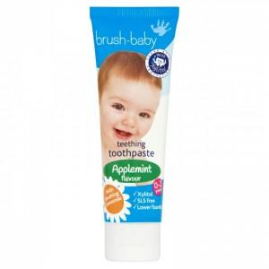 Зубная паста Brush-Baby Яблоко-мята (от 0 до 2 лет)