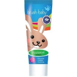 Зубная паста Brush-Baby Яблоко-мята (от 0 до 3 лет)