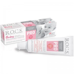 Зубная паста Rocs Baby PRO  от 0 до 3 лет