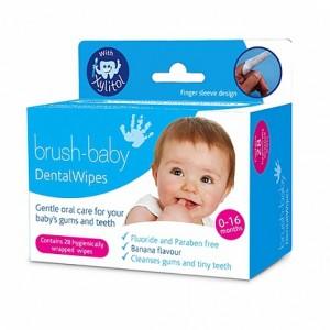 "Салфетки  ""Brush-Baby DentalWipes"" для младенцев"