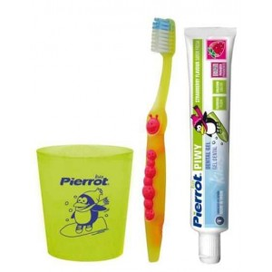 "Pierrot ""Piwy Junior Dental Kit"" - Дорожный набор для детей"