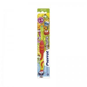 Детская зубная щетка Pierrot Monster, мягкая, от 2 до 8 лет