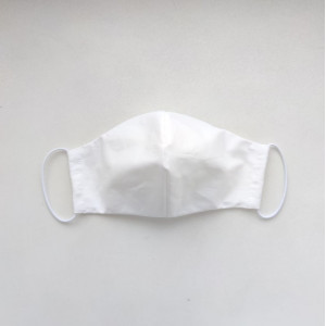 Защитная маска на лицо - белая  (3 размера)