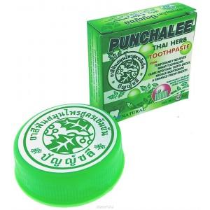 Зубная паста Punchalee Растительная отбеливающая с ментолом Herbal Toothpaste, 25 г