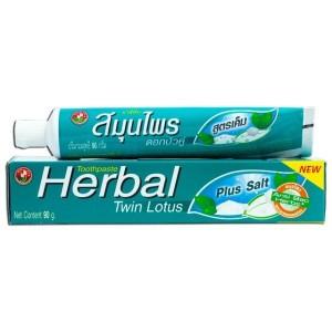 Зубная паста Twin Lotus Herbal Plus Salt с травами и солью